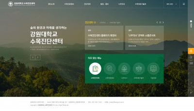 [H016]강원대학교 수목진단센터 홈페이지 제작