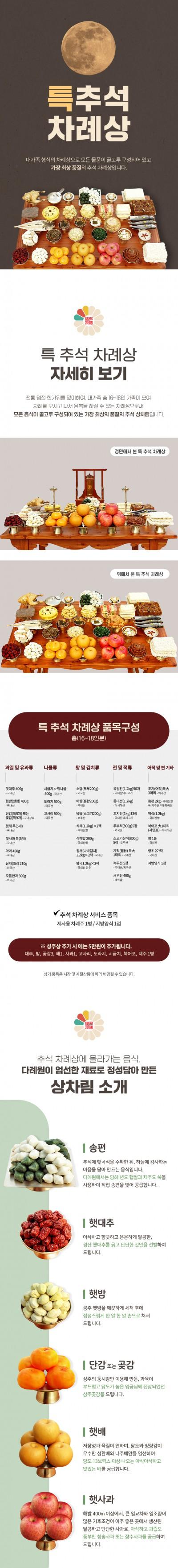 [D195]차례상 상세페이지 제작